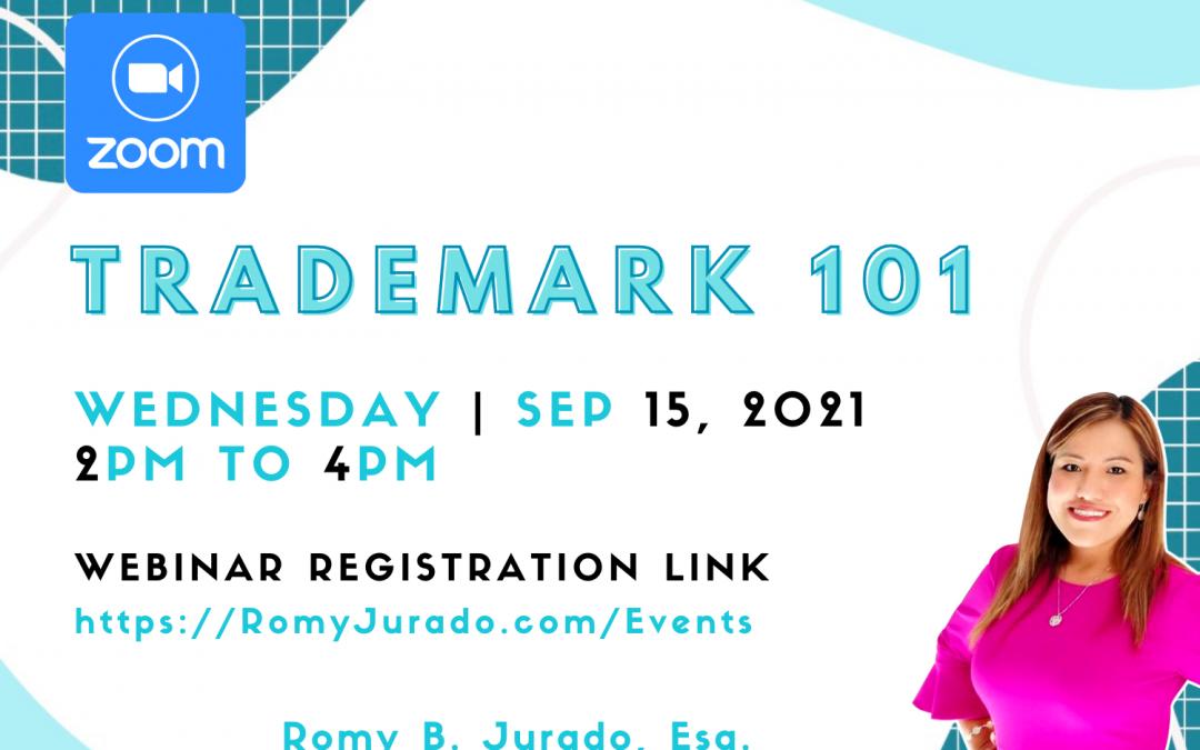 Trademarks 101 by Attorney Romy B. Jurado